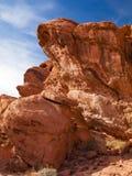 Valle delle rocce del fuoco Fotografie Stock