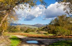 Valle delle saline che guarda le montagne di Gablian all'est fotografia stock libera da diritti