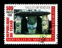 Valle delle statue, meraviglie del serie dimenticato delle culture, circa 20 Fotografia Stock Libera da Diritti