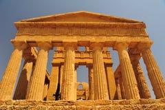 Valle delle tempie a Agrigento fotografia stock libera da diritti