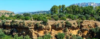 Valle delle tempie, Agrigento, Sicilia, Italia Fotografia Stock