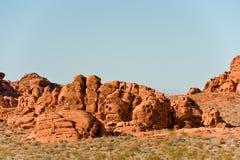 Vallée des formations de roche d'incendie Image libre de droits