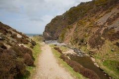 Valle Devon England de Heddon del parque nacional de Exmoor Imágenes de archivo libres de regalías