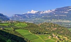Valle di Adige Fotografia Stock