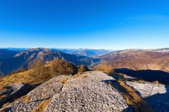 Valle di Adige ed alpi italiane Fotografia Stock Libera da Diritti