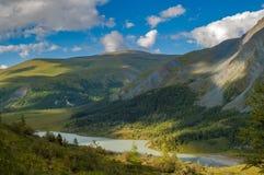 Valle di Akkem altai La Russia Fotografia Stock Libera da Diritti