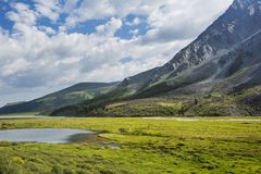 Valle di Akkem Montagna di Altai La Russia Immagine Stock Libera da Diritti