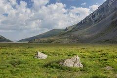 Valle di Akkem Montagna di Altai La Russia Fotografia Stock