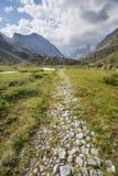 Valle di Akkem Montagna di Altai La Russia Fotografia Stock Libera da Diritti