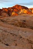 Valle di alba del Nevada del fuoco fotografia stock libera da diritti