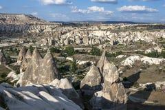 Valle di amore in Cappadocia in Turchia fotografia stock