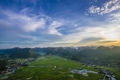Valle di Bac Son Fotografie Stock
