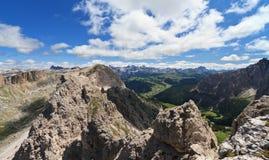 Valle di Badia dal supporto del CIR Fotografia Stock