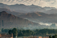 Valle di Bamyan, Sunrice Immagini Stock Libere da Diritti