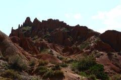 Valle di Barskoon Fotografia Stock