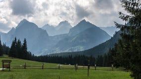 Valle di Bielovodska in montagne di Tatry Fotografie Stock