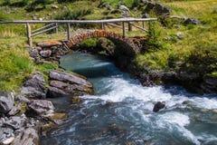 Valle di breuil, val di aoste, Italia fotografia stock libera da diritti