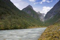 Valle di Briksdal fotografie stock libere da diritti