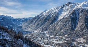 Valle di Chamonix-Mont-Blanc, Francia Fotografia Stock