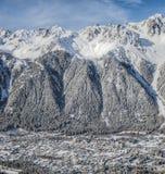 Valle di Chamonix-Mont-Blanc, Francia II Fotografie Stock Libere da Diritti