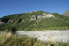 Valle di Champoleon in alpi, Francia Fotografia Stock