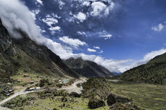 Valle di Chopta, Sikkim, India Immagini Stock