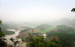 Valle di Damda, Hoabinh, Vietnam Fotografia Stock