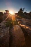 Valle di desolazione nel parco nazionale di Camdeboo vicino a Graaff-Reine Fotografia Stock