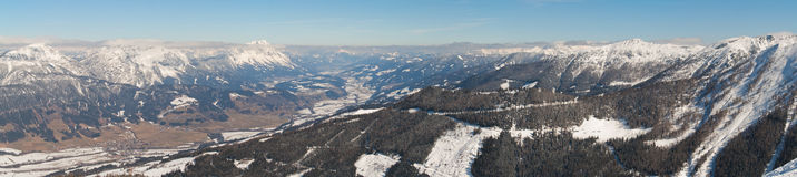 Valle di Ennstal Fotografie Stock