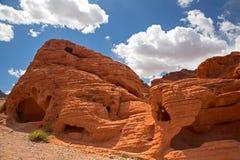 Valle di formazioni rocciose di fuoco Fotografia Stock