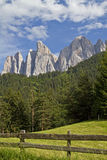 In the Valle di Funes Stock Photography