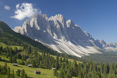 In the Valle di Funes royalty free stock photography