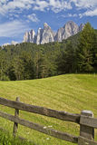 In the Valle di Funes Royalty Free Stock Photos