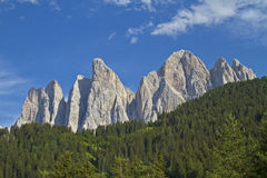In the Valle di Funes Royalty Free Stock Photo