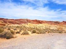 Valle di fuoco, Nevada fotografia stock libera da diritti