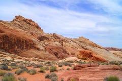 Valle di fuoco, Nevada immagini stock
