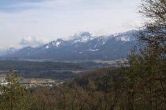 Valle di Gailtal di Carinzia Fotografia Stock