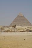 Valle di Giza - la Sfinge Fotografie Stock