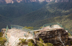 Valle di Grose in montagne blu Australia Fotografia Stock Libera da Diritti