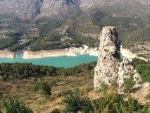 Valle di Guadalest nella provincia di Valencia in Spagna immagini stock