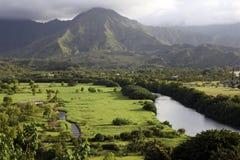 Valle di Hanalei, Kauai, Hawai Immagini Stock