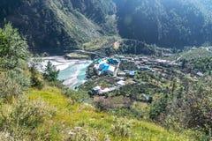 Valle di Harshil in Uttrakhand fotografie stock libere da diritti