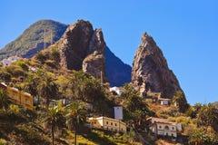 Valle di Hermigua nell'isola di Gomera della La - canarino fotografia stock