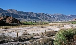 Valle di Humahuaca, Salta, Argentina Fotografia Stock