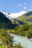 Valle di Innergschloess e di Grossvenediger Fotografia Stock Libera da Diritti