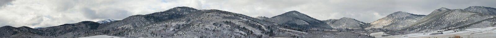 Valle di inverno Fotografia Stock