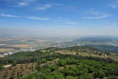 Valle di Jezreel dal Mt. Carmel Fotografia Stock