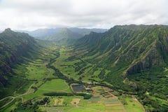 Valle di Kaaawa Fotografia Stock
