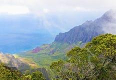 Valle di Kalalau Fotografia Stock Libera da Diritti