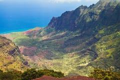 Valle di Kalalau/Lookut, canyon di Waimea, Kauai, Hawai Immagine Stock
